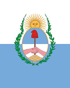 Flagge: XXS Mendoza (Provinz)  |  Hochformat Fahne | 0.24m² | 55x45cm