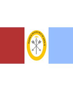 Flagge: XXS Santa Fe (Provinz)  |  Querformat Fahne | 0.24m² | 35x70cm