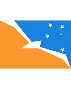 Flagge: XXS Tierra del Fuego (Provinz)  |  Querformat Fahne | 0.24m² | 40x60cm