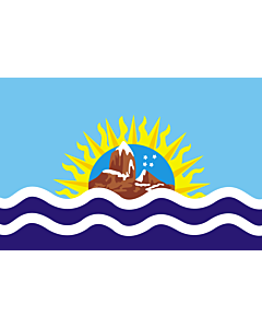 Flag: Santa Cruz Province |  landscape flag | 6.7m² | 72sqft | 200x335cm | 6x11ft