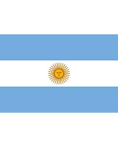 Flagge: XS Argentinien  |  Querformat Fahne | 0.375m² | 50x75cm