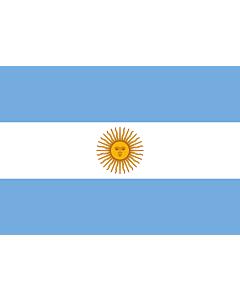 Flagge: Small Argentinien  |  Querformat Fahne | 0.7m² | 70x100cm