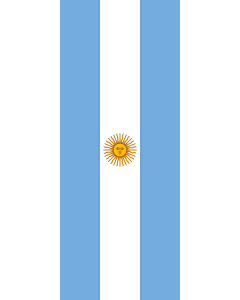 Vertical Hanging Beam Flag: Argentina |  portrait flag | 3.5m² | 38sqft | 300x120cm | 10x4ft