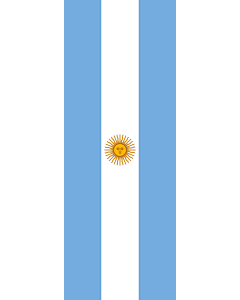 Vertical Hanging Swivel Crossbar Banner Flag: Argentina |  portrait flag | 6m² | 64sqft | 400x150cm | 13x5ft
