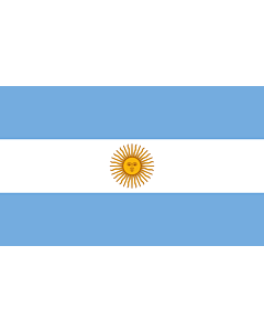 Table-Flag / Desk-Flag: Argentina 15x25cm