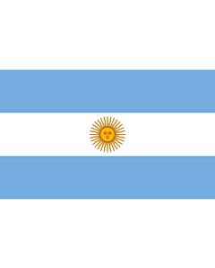 Flagge: Large Argentinien  |  Querformat Fahne | 1.35m² | 90x150cm