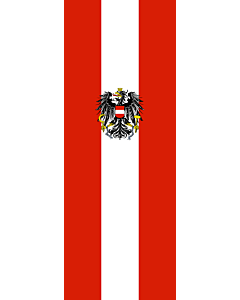 Bandera: Austria |  bandera vertical | 6m² | 400x150cm
