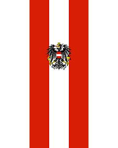 Bandera: Bandera vertical con manga cerrada para potencia Austria |  bandera vertical | 3.5m² | 300x120cm