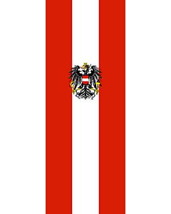 Bandera: Bandera vertical con manga cerrada para potencia Austria |  bandera vertical | 6m² | 400x150cm