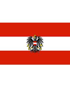 Bandera de Interior para protocolo: Austria 90x150cm