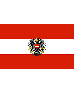 Flag: Austria    landscape flag   6.7m²   72sqft   200x335cm   6x11ft