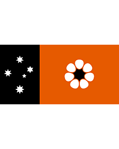 Flagge: XXL Northern Territory  |  Querformat Fahne | 3.375m² | 130x260cm
