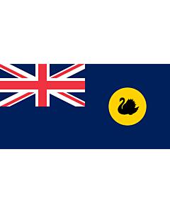 Drapeau: Australie-Occidentale |  drapeau paysage | 1.5m² | 85x170cm