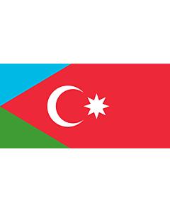 Flag: Azerbaitjan Meridional |  landscape flag | 2.16m² | 23sqft | 100x200cm | 40x80inch