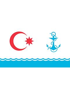 Flag: Ceremonial naval flag of Azerbaijan |  landscape flag | 1.35m² | 14.5sqft | 90x150cm | 3x5ft