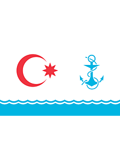 Flag: Ceremonial naval flag of Azerbaijan |  landscape flag | 2.16m² | 23sqft | 120x180cm | 4x6ft