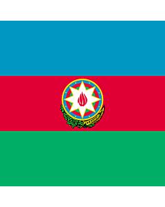 Flag: Standard of the President of Azerbaijan |  1.35m² | 14.5sqft | 120x120cm | 45x45inch