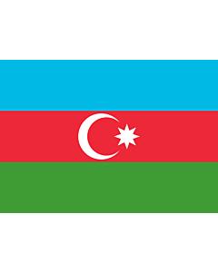 Flag: Azerbaijan |  landscape flag | 0.7m² | 7.5sqft | 70x100cm | 2x3ft