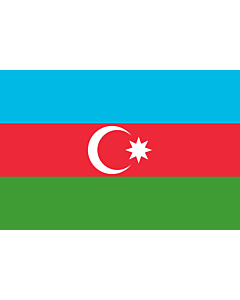 Flag: Azerbaijan |  landscape flag | 1.5m² | 16sqft | 100x150cm | 3.5x5ft