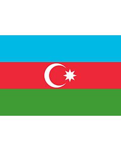 Drapeau: Azerbaïdjan |  drapeau paysage | 3.375m² | 150x225cm