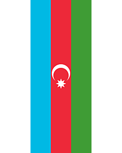 Flag: Azerbaijan |  portrait flag | 3.5m² | 38sqft | 300x120cm | 10x4ft