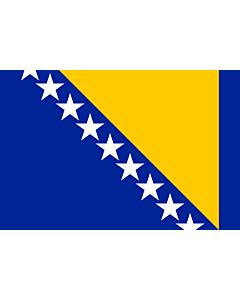 Flag: Bosnia and Herzegovina |  landscape flag | 1.5m² | 16sqft | 100x150cm | 3.5x5ft