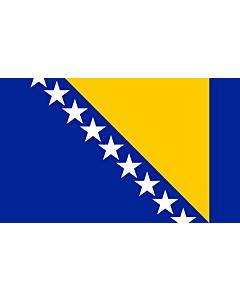 Flag: Bosnia and Herzegovina |  landscape flag | 3.75m² | 40sqft | 150x250cm | 5x8ft