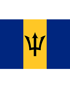 Flag: Barbados |  landscape flag | 0.7m² | 7.5sqft | 70x100cm | 2x3ft