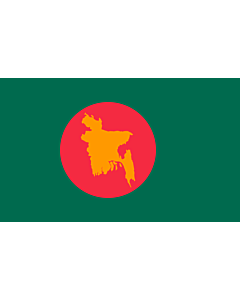 Flag: 1971 flag of Bangladesh |  landscape flag | 1.35m² | 14.5sqft | 90x150cm | 3x5ft