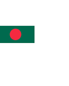 Flag: Naval Ensign of Bangladesh |  landscape flag | 2.16m² | 23sqft | 100x200cm | 40x80inch