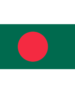 Flag: Bangladesh |  landscape flag | 1.35m² | 14.5sqft | 90x150cm | 3x5ft