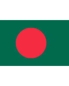 Flag: Bangladesh |  landscape flag | 1.5m² | 16sqft | 100x150cm | 3.5x5ft