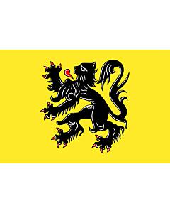 Tisch-Fahne / Tisch-Flagge: FlämischeRegion 15x25cm