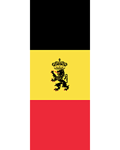 Flagge:  Belgien  |  Hochformat Fahne | 3.5m² | 300x120cm