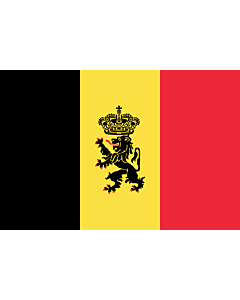 Flagge: XL Belgien  |  Querformat Fahne | 2.16m² | 120x180cm