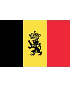 Banner-Flagge:  Belgien  |  Hochformat Fahne | 3.5m² | 300x120cm