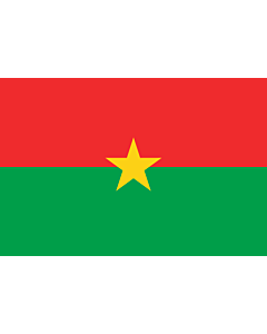 Flagge: Medium Burkina Faso  |  Querformat Fahne | 0.96m² | 80x120cm