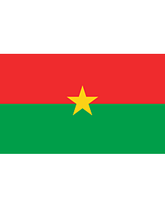 Indoor-Flag: Burkina Faso 90x150cm