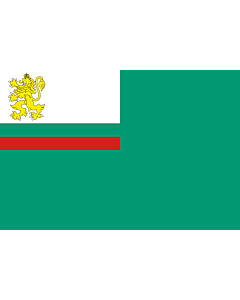 Drapeau: Coastguard Ensign of Bulgaria |  drapeau paysage | 2.16m² | 120x180cm