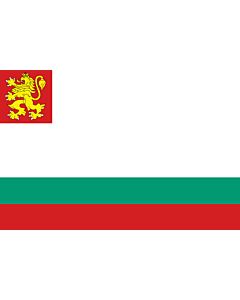 Drapeau: Naval Ensign of Bulgaria |  drapeau paysage | 2.16m² | 120x180cm