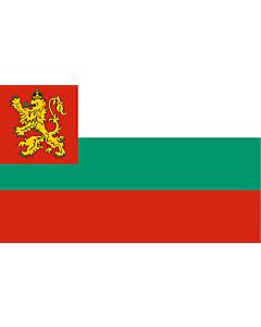 Drapeau: Naval Ensign of Bulgaria 1878-1944 |  drapeau paysage | 2.16m² | 120x180cm