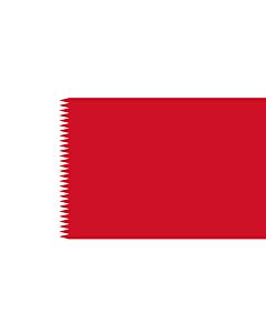 Bandera: Royal Standard of Bahrain 1932-72 | ملكي القياسية من البحرين  1932-1972 |  bandera paisaje | 2.16m² | 120x180cm