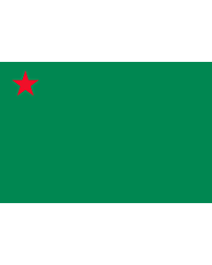 Flag: Benin  1975–1990 |  landscape flag | 1.35m² | 14.5sqft | 90x150cm | 3x5ft