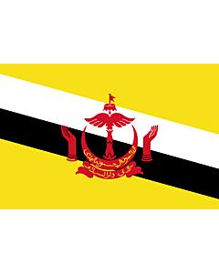 Flagge: XXXL Brunei Darussalam  |  Querformat Fahne | 6m² | 200x300cm