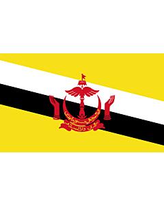 Flagge: XXXL+ Brunei Darussalam  |  Querformat Fahne | 6.7m² | 180x360cm