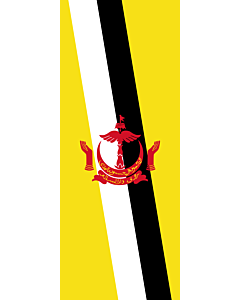 Flagge:  Brunei Darussalam  |  Hochformat Fahne | 3.5m² | 300x120cm