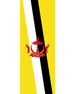 Flagge:  Brunei Darussalam  |  Hochformat Fahne | 6m² | 400x150cm