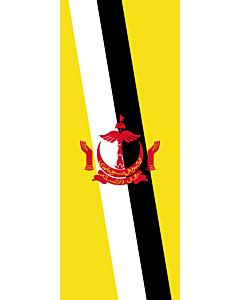Banner-Flagge:  Brunei Darussalam  |  Hochformat Fahne | 3.5m² | 300x120cm