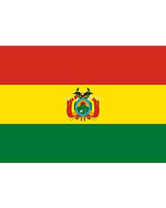 Drapeau: Bolivie |  drapeau paysage | 0.7m² | 70x100cm