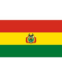 Drapeau: Bolivie |  drapeau paysage | 1.35m² | 90x150cm